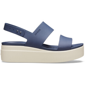 Crocs Brooklyn Low Wedge Buty Kobiety, navy/stucco